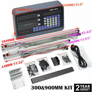 """12"""" & 36"""" Linear Scales 2 Axis Digital Readout DRO Display CNC Milling Lathe"""