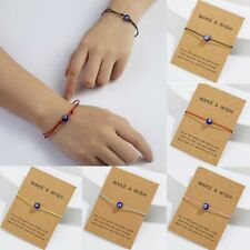 Lucky Evil Eye Card Unisex Bracelet Rope String Braided Bangle Jewelry Gifts NEW