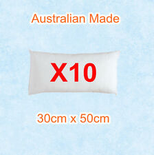 10 x Aus Made New Cushion Inserts Premium Polyester Fibre Filling---30cm x 50cm