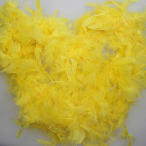 """Deluxe Large Yellow 72"""" Costume Accessory Feather Boa + DUCK WHISTLE"""