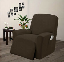 Pique Stretch Form Fit Furniture Chair Recliner Lazy Boy Cover Slipcover - Taupe