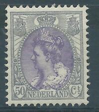 1899TG Nederland Wilhelmina  Bontkraag NR.75. postfris mooi zegel!!