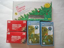 Lot of 5 New Packages of Assorted Christmas Lights Electric and Battery Operated