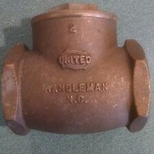 "New! United 2"" Swing Check Valve 125 WSP 200 WOG Randleman, NC"