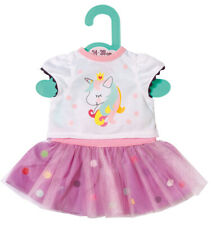 Zapf Creation Dolly Moda Einhorn Shirt mit Tutu 34 - 38 cm (Weiß-Lila)