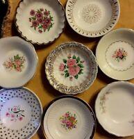 8 - Vintage Mismatched Fruit Bowls Wedding Shower Mad Hatter Shabby Pinks  # 117