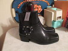 Vagabond ARIANA Leather Ankle Harness Biker Boots Black EU 38 Side Zipper