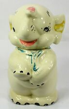 "USA 12"" Baby Elephant Cookie Jar - Vintage - 1930's / 1940's Rare Item"