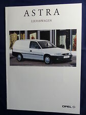 Opel Astra Lieferwagen - Prospekt Brochure 04.1995