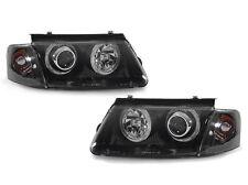 DEPO 98-00 VW Passat B5 Black Angel Eye Projector Headlight + Clear Corner Light