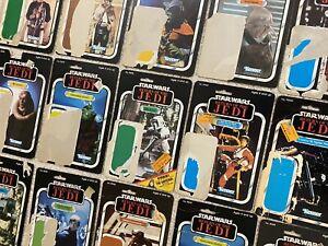 Vintage Star Wars ROTJ Original Cardback Lot of 18 1983 Kenner Luke Biker DSC