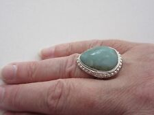 925 Sterling Silver Ring With Hand Crafted Chalcedony UK S 1/2 US 9.25 (rg2753)