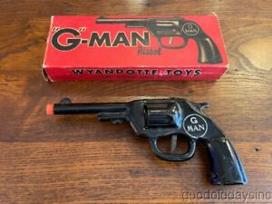 Vintage in Original Box Wyandotte G Man Toy Gun Pistol w/ Clicker