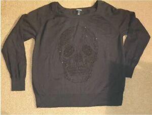 Torrid sweater. Rhinestone skull. Size 1