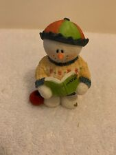 New Sarah's Attic Snowonders Back to School September Snowman Apple