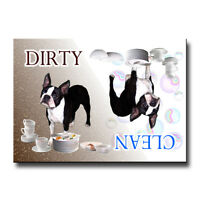 BOSTON TERRIER Clean Dirty DISHWASHER MAGNET Must See DOG