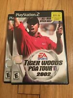 EA SPORTS TIGER WOODS PGA TOUR 2002 - PS2 - COMPLETE W/MANUAL - FREE S/H (X)