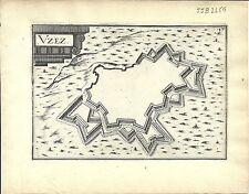Antique map, Uzez (Uzes)