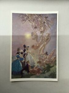 Norman Lindsay - postcard art print 'visitants from the moon' x1
