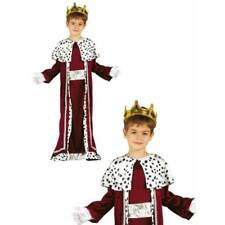 Deluxe Kings Robe Medieval Nativity Christmas Boys Fancy Dress Costume