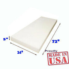 "5"" X 24""X72"" High Density Foam Upholstery Foam Cushion free shipping Made in USA"