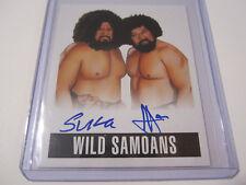 Wild Samoans 2017 Leaf Originals Wrestling 2014 Dual on-card Autograph Auto #WS1