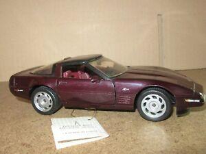 852Q Franklin Mint 1993 Corvette C4 ZR-1 Chevrolet Violet Dark Chevy 1:24
