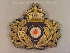 KAISERLICHE MARINE Schirmmützenabzeichen für Offiziere, handgestickt, 77771