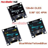 "0.96"" Yellow/Blue/White 128X64 OLED I2C IIC Serial LCD LED SSD Display SSD1306"