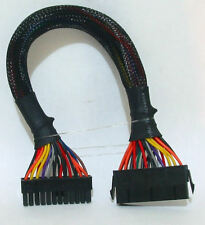 12 INCH 24-pin to 24-pin ATX Ext Cable, Black Sleeved