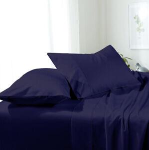 Luxury Bed Sheet Set- Solid Brushed Microfiber Wrinkle-Free sheet sets