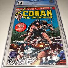 Conan The Barbarian Annual #1 CGC 5.5 (FN-)  (1973) - Off White to White Pages