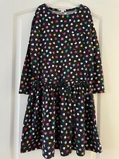 J Crew Crewcuts Kids Girls 12y Black Colorful Candy Hearts Dress VGUC Holiday