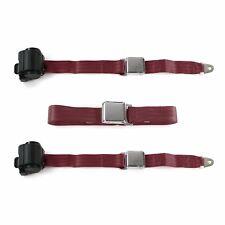 Frazer Nash 1948 - 1967 Airplane 2pt BURG Bench Seat Belt Kit - 3 Belts