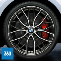 "NEW GENUINE BMW 20"" 405 M SPORT DOUBLE SPOKE ALLOY WHEELS TYRES 3 4 SERIES F30"