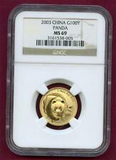 """*2003 CHINA G100Y PANDA """"A REAL AWESOME COIN"""" NGC GRADED MS69 PLEASE LQQK!!*"""