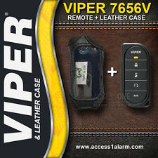 Viper Ds4 7656V 1-Way Remote Control And Leather Case Combo For Viper Ds4756V