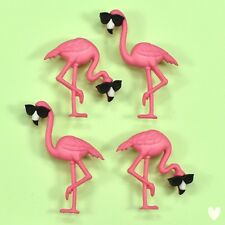 DRESS IT UP Buttons Think Pink Flamingos 10407  - Birds Sunglasses Cool