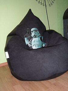 Sitzsack XXL von Lux ca 380 Frontseite Star Wars Episode 7 Lederoptik schwarz