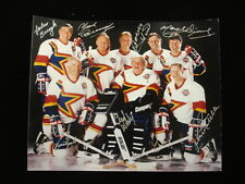 8 Hockey Hall of Famers Autographed 8x10 Photograph