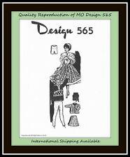 "DOLL 11½""  Knitted Knitting WARDROBE Vintage MO Design 565 CRAFT Pattern Knit"