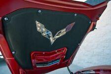 2014-2019 Corvette C7 Polished Stainless Crossed Flags Hood Blanket Emblem