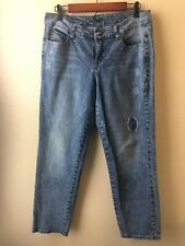 Women's Nine West Jeans Size 10 Inseam 29 Distressed