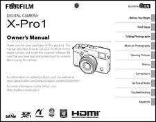 FujiFilm FinePix X-Pro1 Digital Camera Owner's  Manual User Guide Instruction