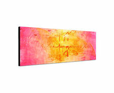 Picture Paul Sinus Series Enigma on Canvas Timeless Pink Yellow Red 150x50cm