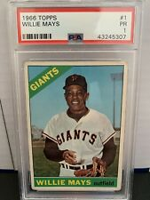 New listing 1966 Topps Willie Mays Giants #1 PSA 1