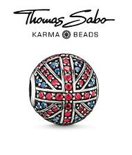 Genuine THOMAS SABO 925 silver BRIT Karma charm bead RRP £125, Union Jack UK