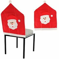 1 2 4 Christmas Santa Hat Dining Chair Back Cover Xmas Party Table Décor Gift UK