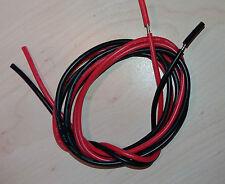 1 m rot + schwarz Silikon-kabel AWG 18