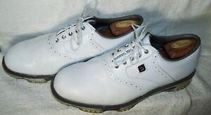FootJoy FJ Dryjoys Tour sz 10.5W White  Chromoskin Leather Golf Shoes 53673